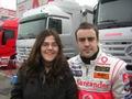 Mi hermana en los entrenamientos de la F1 en Montmelo